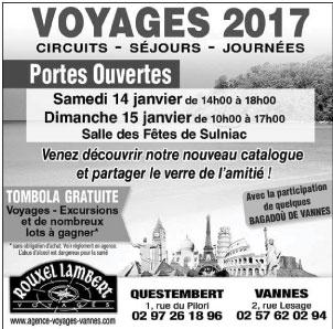 Portes Ouvertes 2017: Samedi 14 Janvier et Dimanche 15 janvier à Salle des Fêtes de Sulniac Morbihan