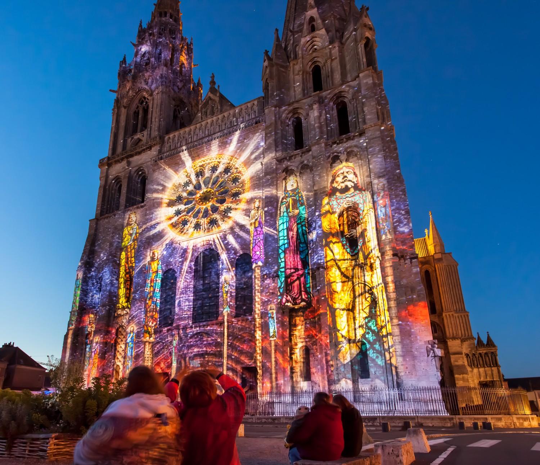 Cathédrale de Chartres - Copyright Spectaculaires les allumeurs d'images - Cité Patrimoine Office de tourisme